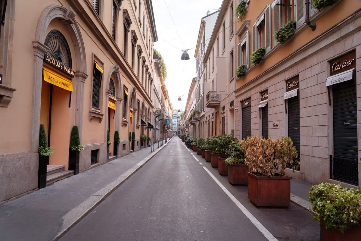 Via Monte Napoleone is home to some of the most expensive luxury brands and is famous for shopping in Milan.