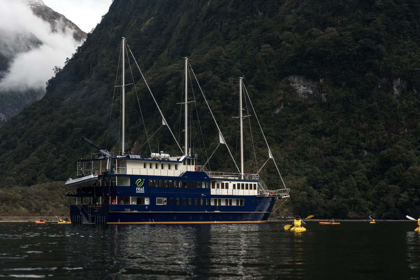Real Journeys provided us with an unbeatable overnight cruise on the Doubtful Sound.
