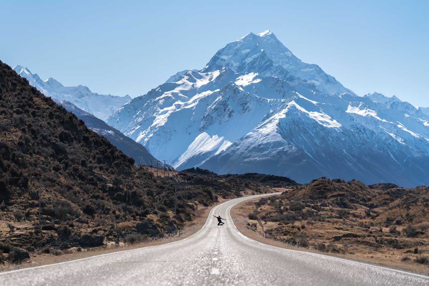 The road to Mt Cook is recommended in our 7 day New Zealand South Island itinerary