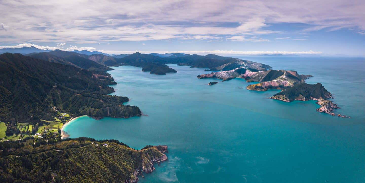 Robin Hood Bay is one of the more accessible options for exploring the Marlborough Sounds.