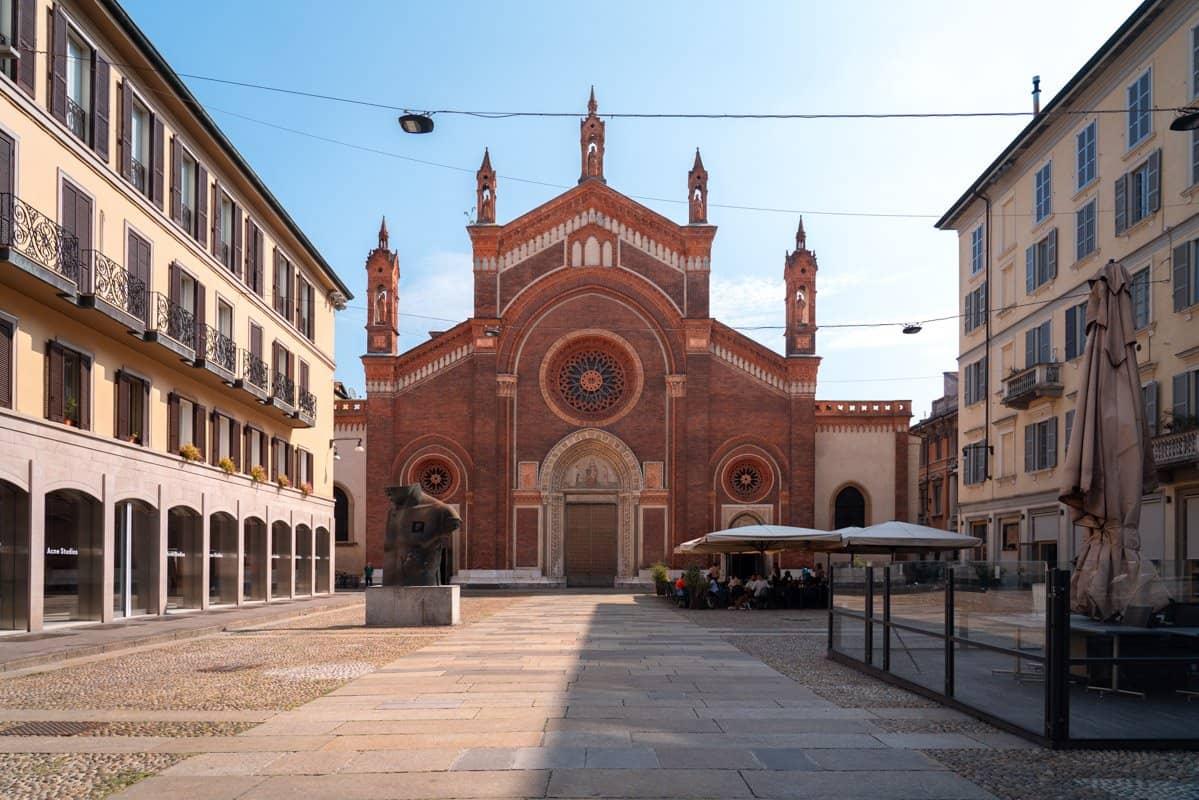 Santa Maria del Carmine Church in Brera, Milan, Italy.