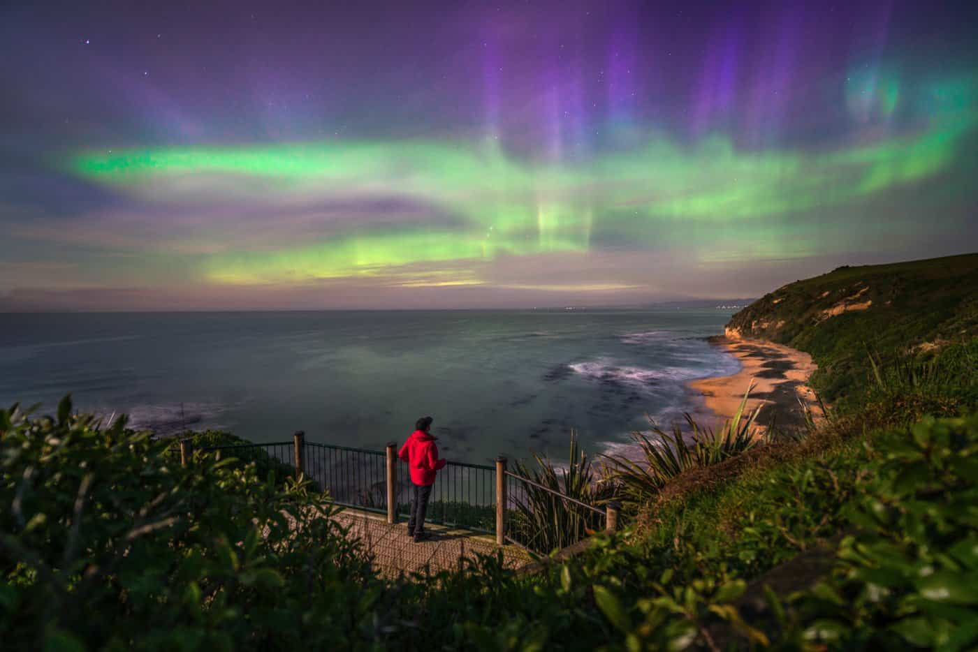 September is the best month to visit New Zealand to see the aurora australis (southern lights.)