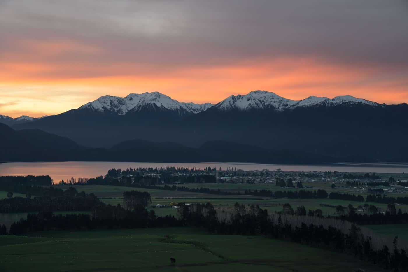If you are staying the night in Te Anau on your way to Milford Sound from Queenstown, be sure to arrive in time for sunset.