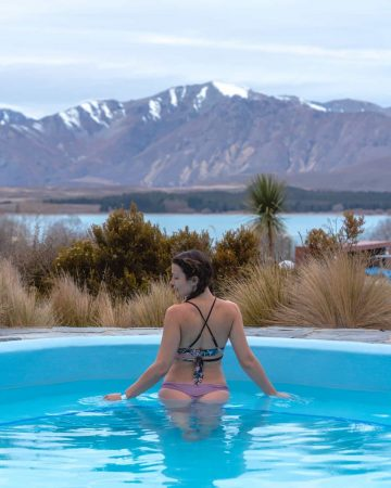 If you have time, begin your week in New Zealand with a soak at the Tekapo Springs.