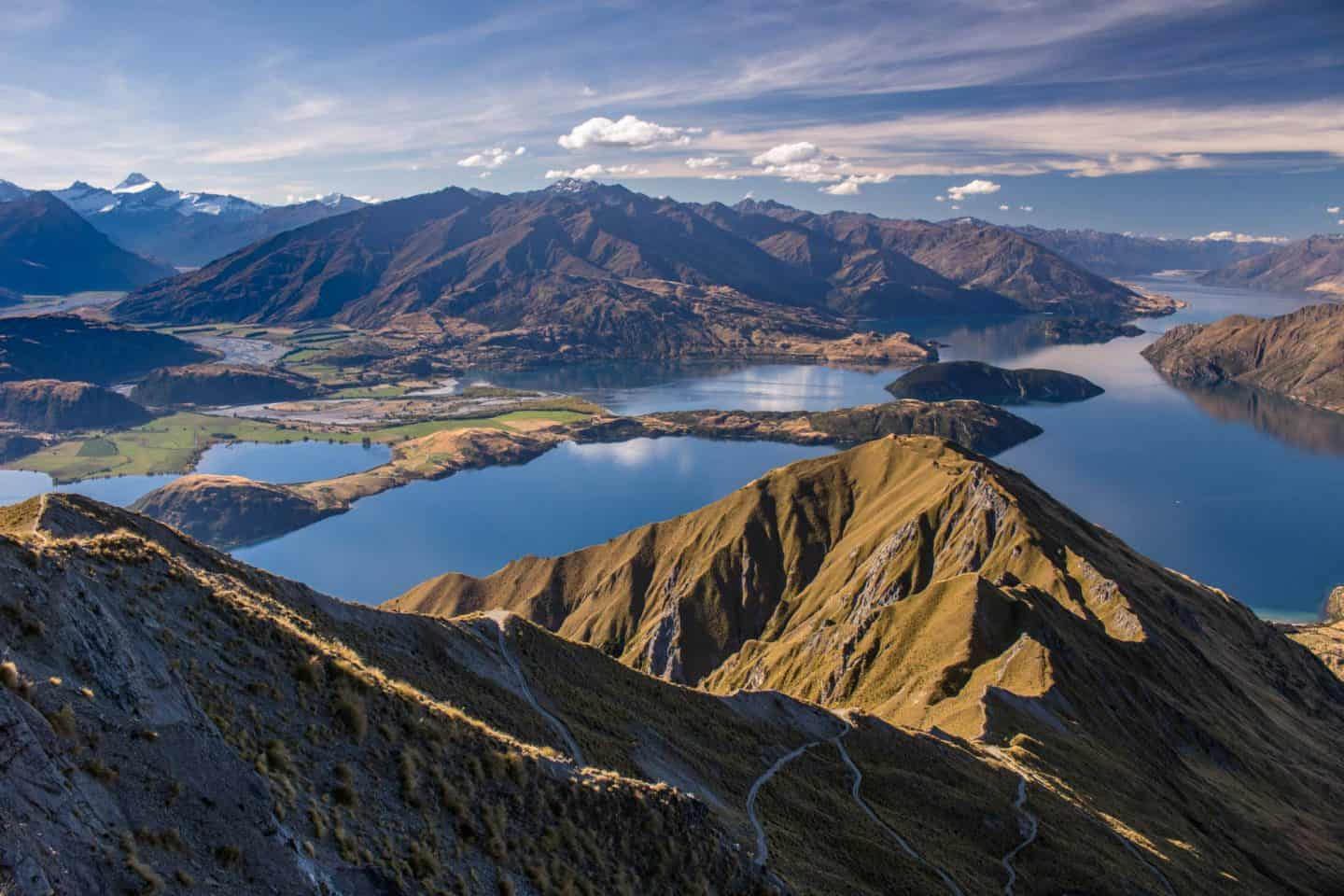 The views of Lake Wanaka and Mt Aspiring are beautiful any time of day.