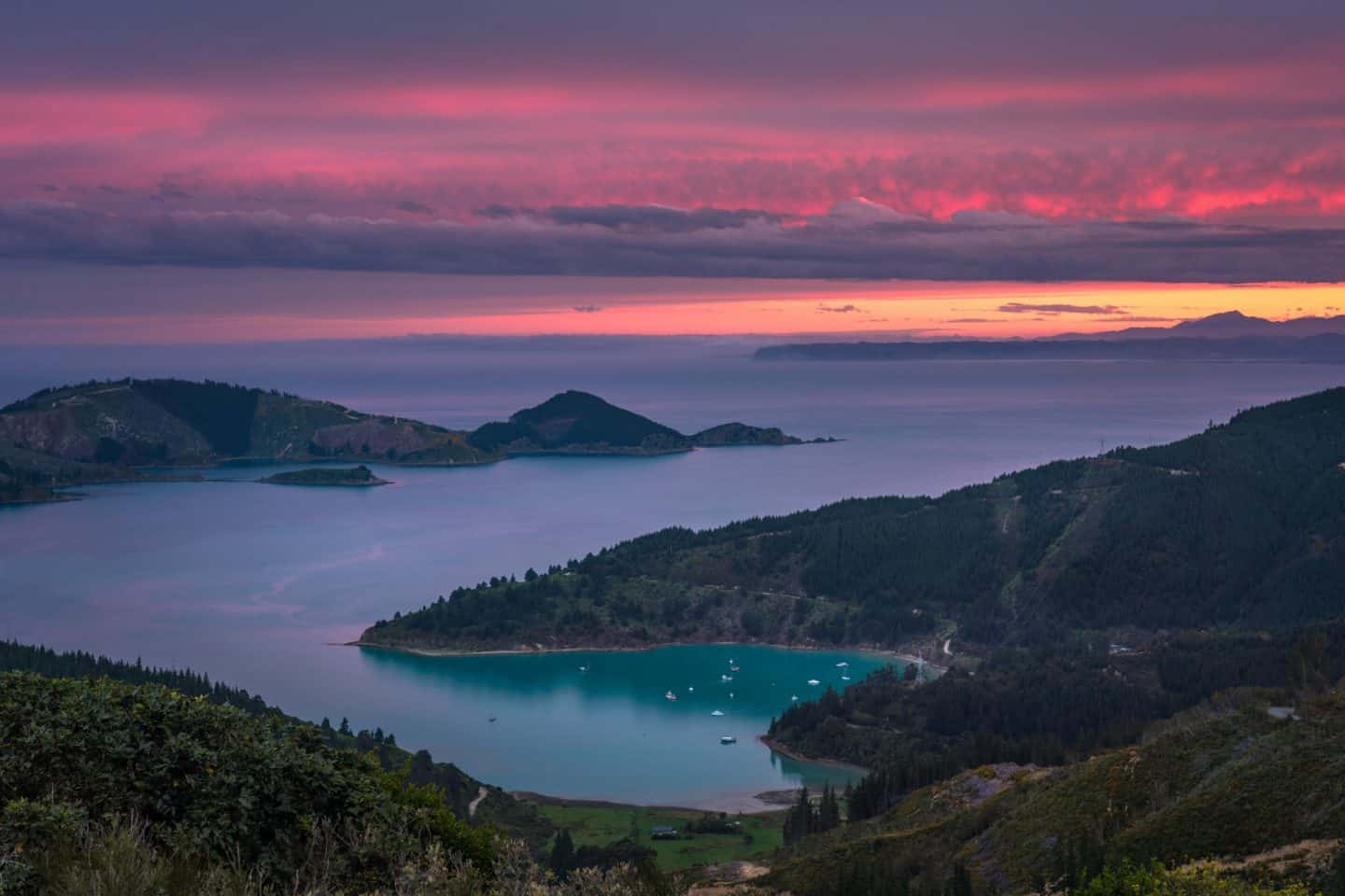 Sunset from Whatamango Bay is another NZ hidden gem known by very few landscape photographers.