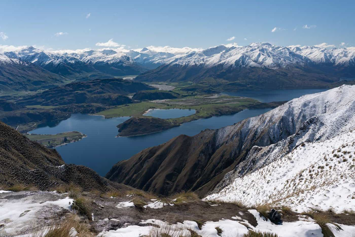 Expect lots of snowy landscapes on a July visit to New Zealand.