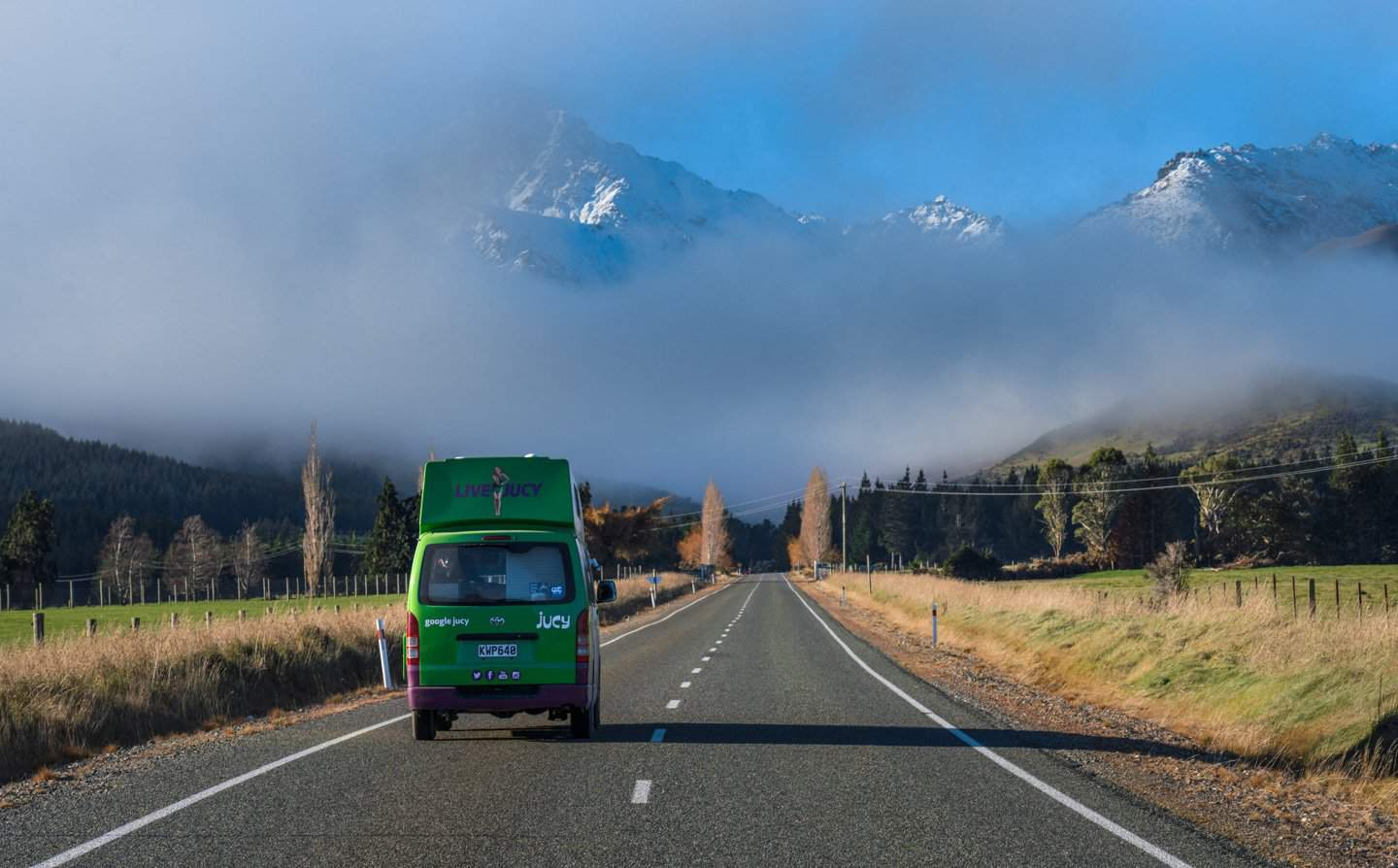 Every open road is a destination when traveling New Zealand by campervan!