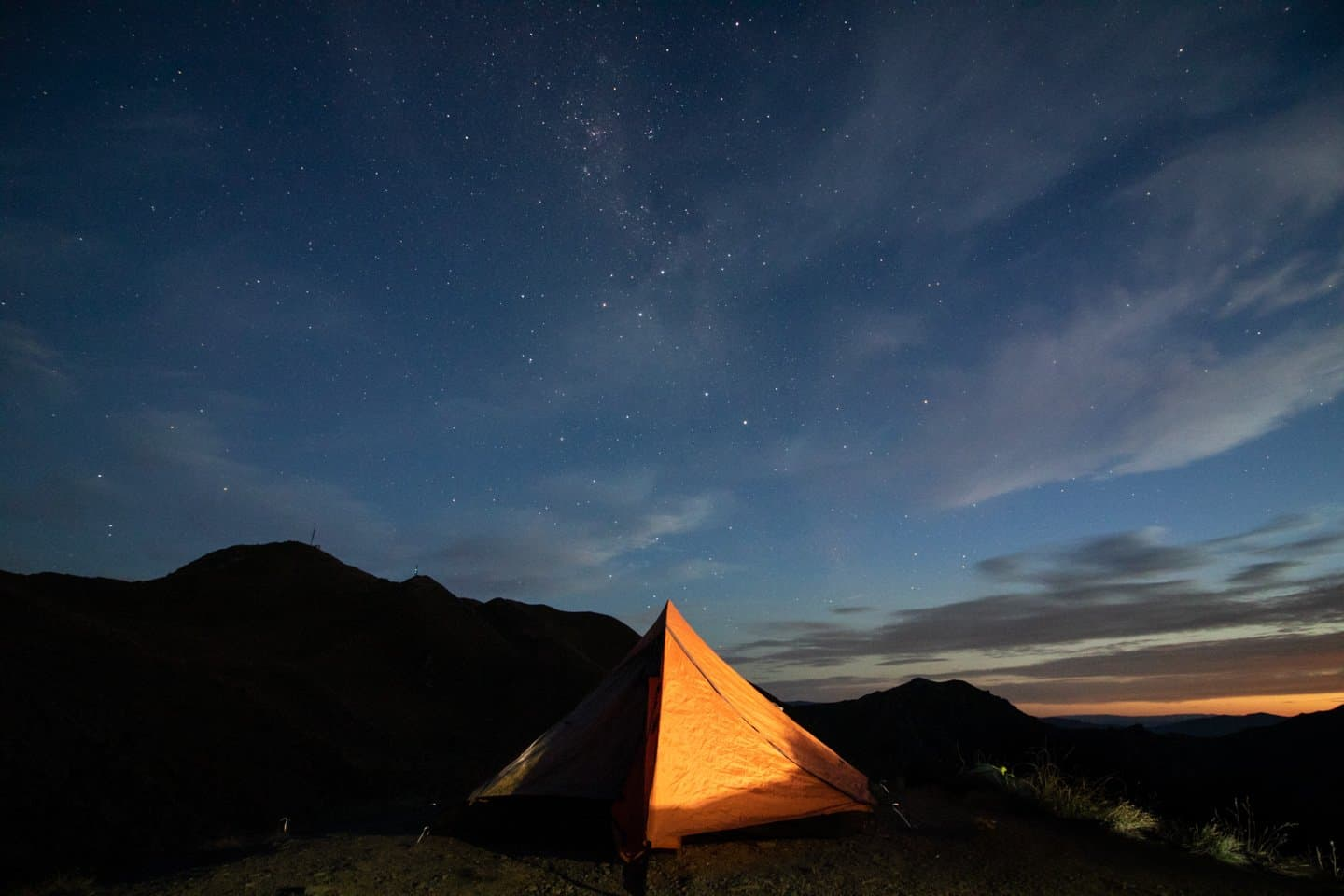Camping under the stars on our New Zealand roadtrip.