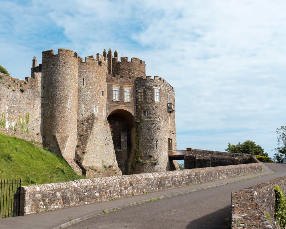 The entrance to Dover Castle.
