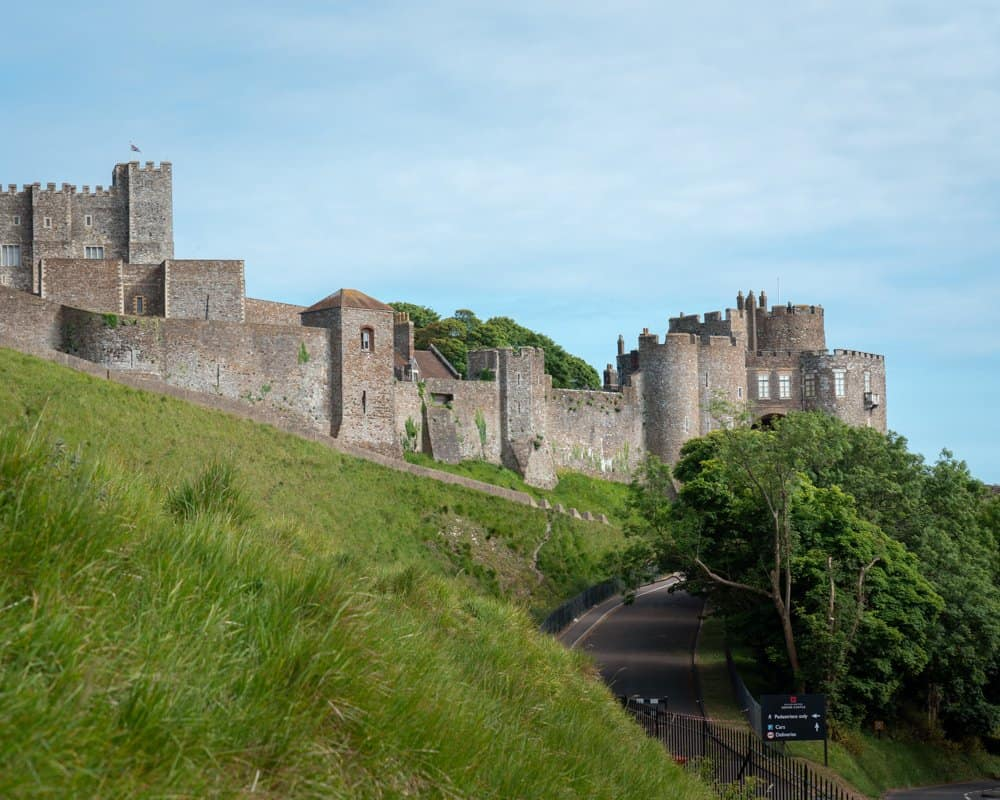 Dover Castle as seen from Castle Hill Road