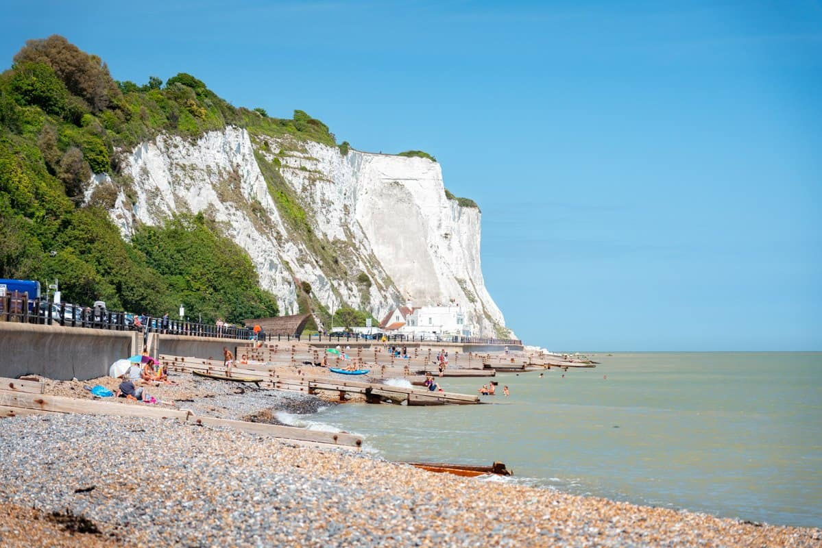 St Margarets Bay Beach, the perfect last stop on a day trip to the White Cliffs of Dover from London