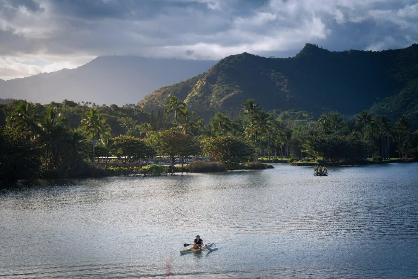 Wailua River is on the east, but still receives beautiful sunset light.