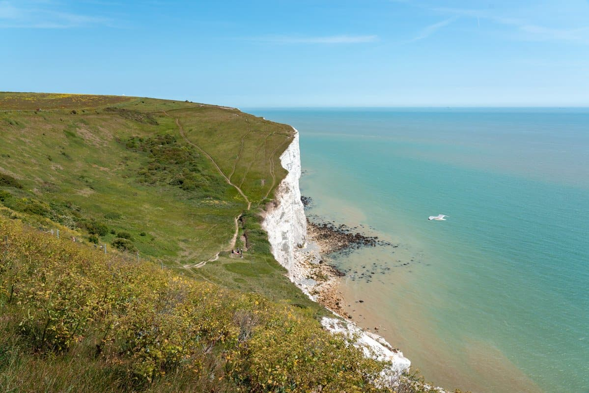 The White Cliffs of Dover from London provide a great day trip to the coast for sweeping views over the English Channel