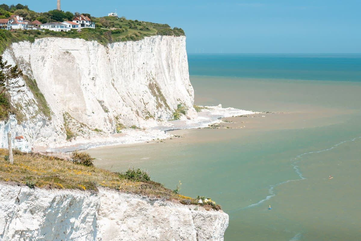 View of St Margarets Bay and the White Cliffs of Dover.