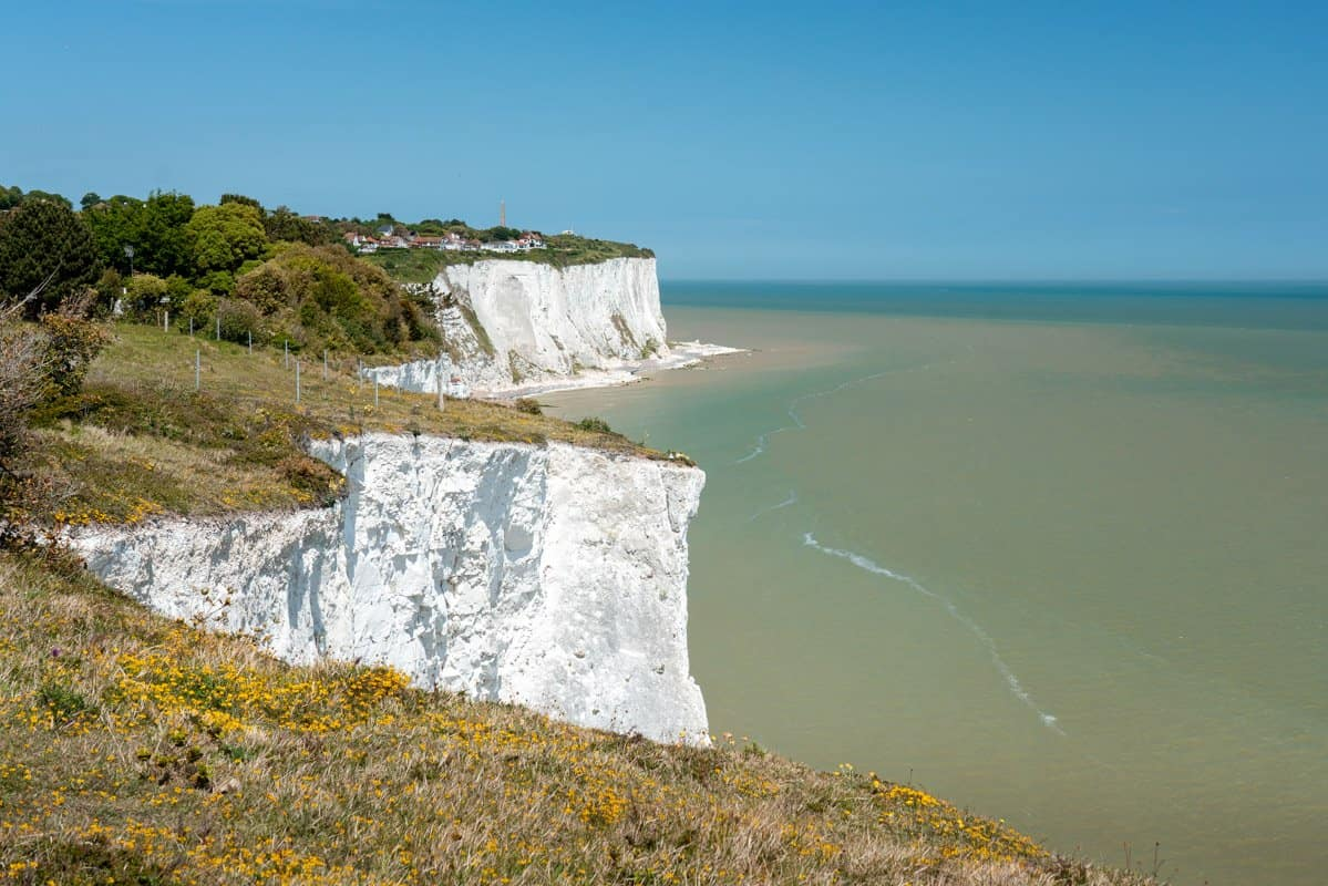 Views of the White Cliffs of Dover and St Margarets Bay.