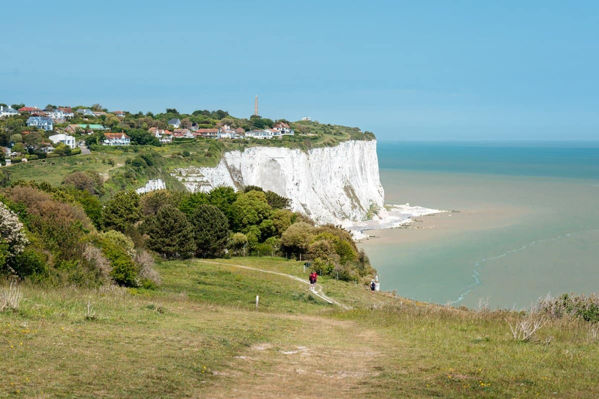 View of the White Cliffs of Dover and St Margarets Bay