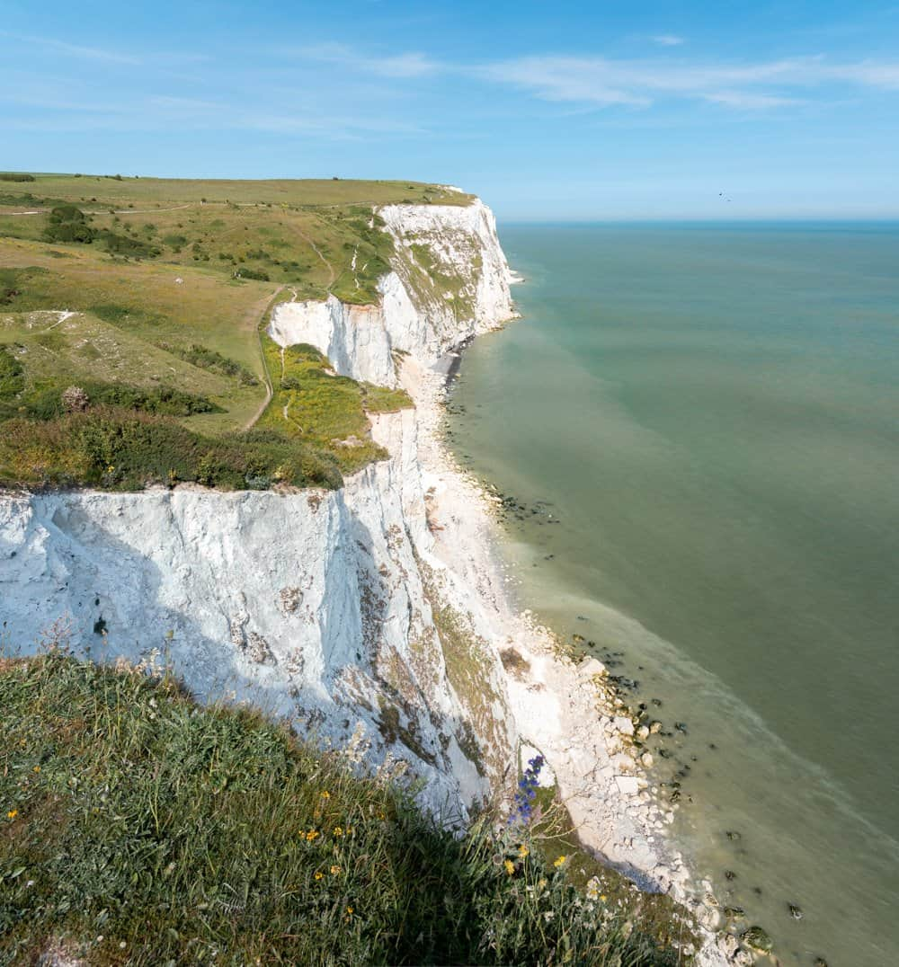 The White Cliffs of Dover as seen from the accessible viewpoint