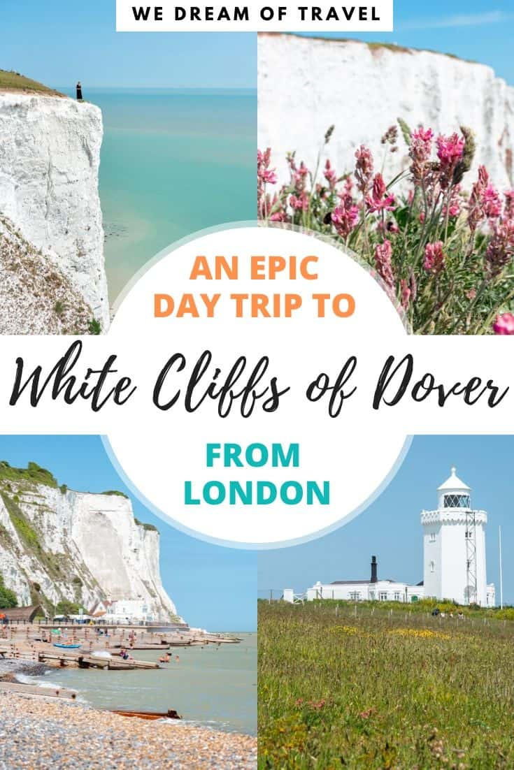 Visiting the White Cliffs of Dover from London makes for an epic day trip. Whether you have your own vehicle or plan to visit by train or tour, this guide has everything you need to know before you visit Dover. Including other things to do in Dover. #dover #whitecliffsofdover #england #britishcoast