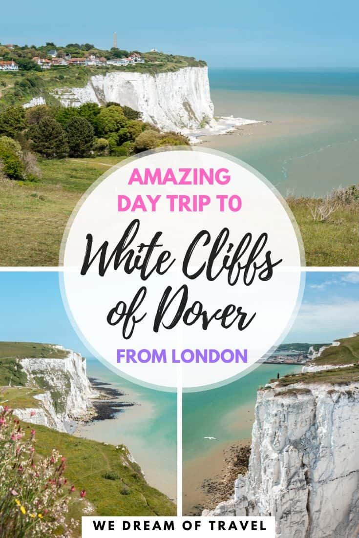 The ultimate guide to taking a day trip to the White Cliffs of Dover from London. Including how to get to Dover, what to see, answers to all the most frequently asked questions and stunning images to inspire your trip. #Dover #WhiteCliffsofDover #England #BritishCoast #DoverCastle