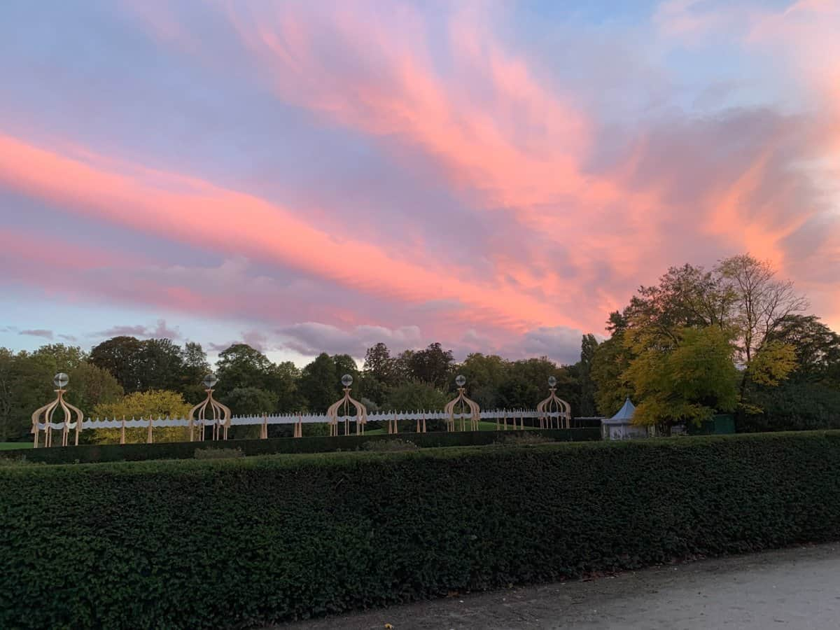 Sunset at Battersea Park in London