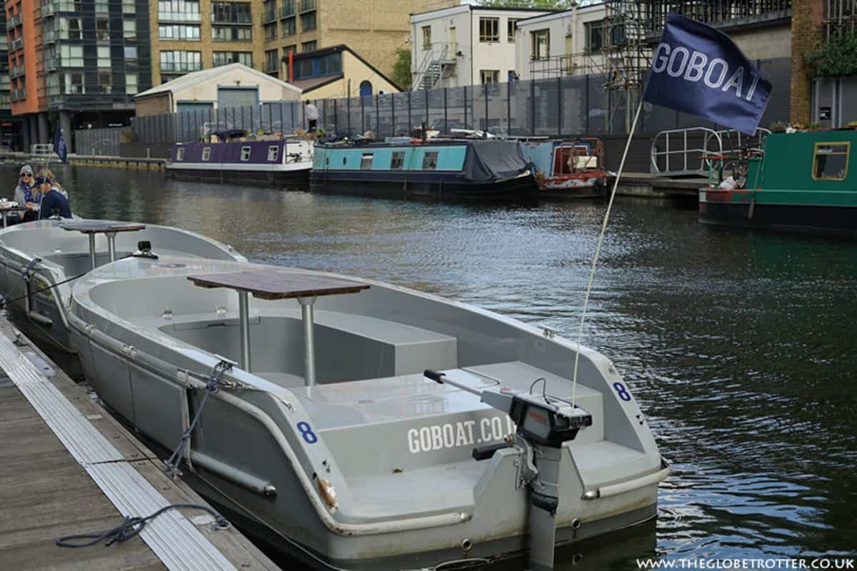 A GoBoat self drive boat on the canals of London is a perfect non touristy thing to do in London