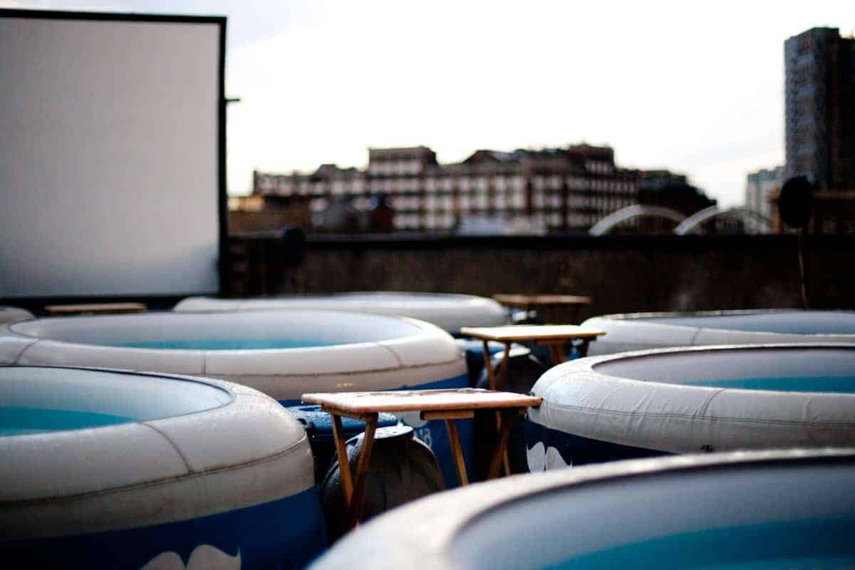 For a non touristy thing to do in London, enjoy a movie at hot tube cinema!