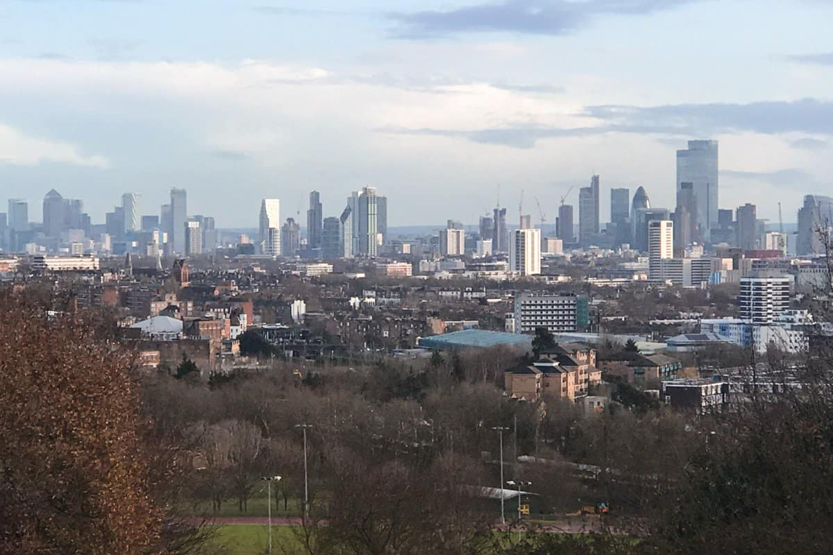 View of London from Hampstead Heath.