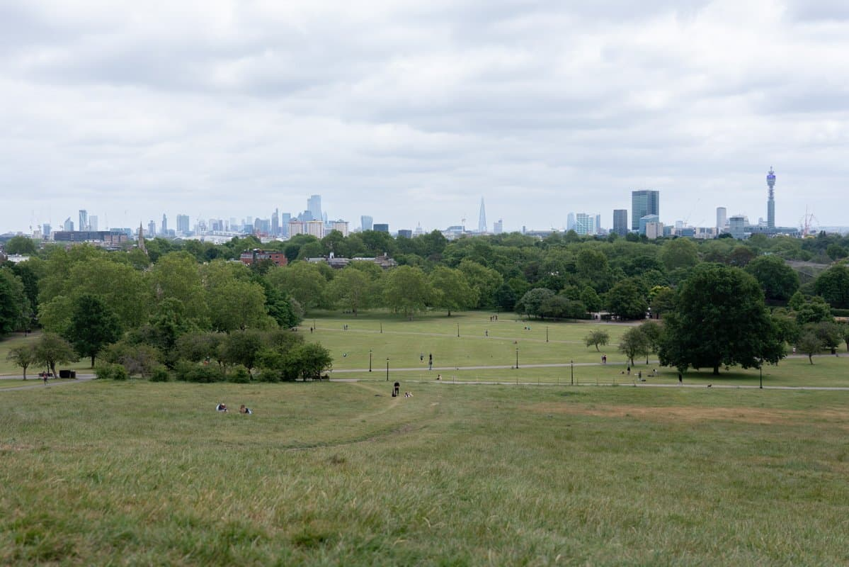 View over London from Primrose Hill.