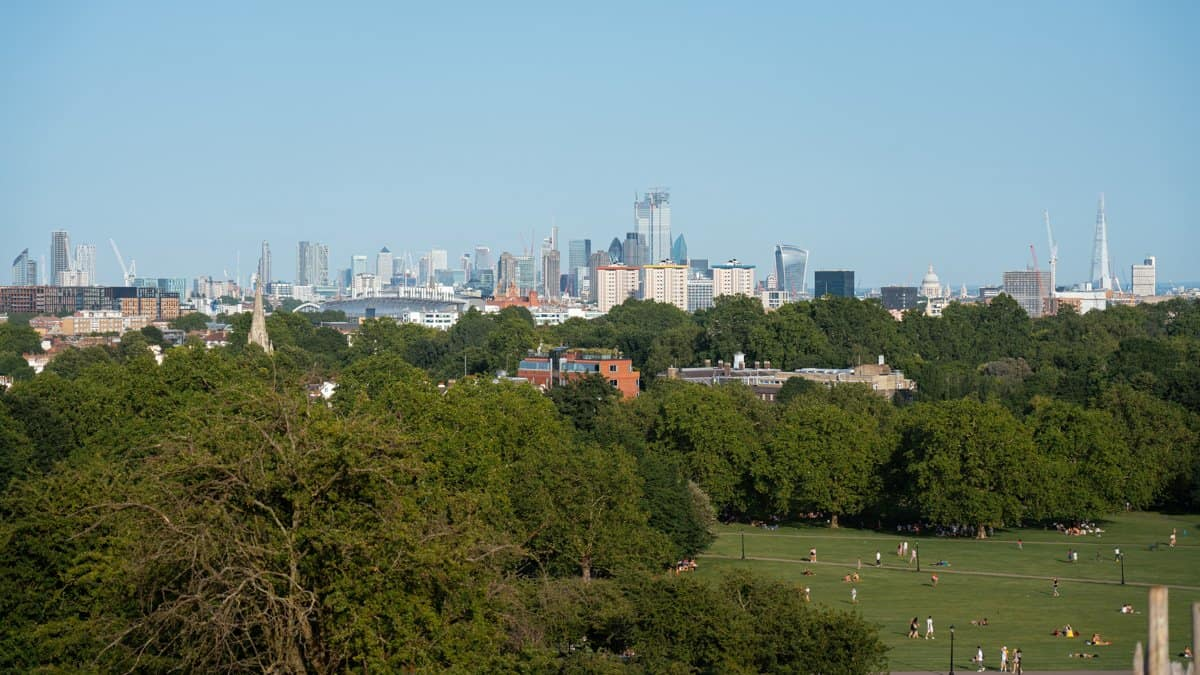 View of London from Primrose Hill - one of the best non-touristy things to do in London