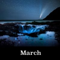 Night Skies of Oregon 2021 Calendar March Image