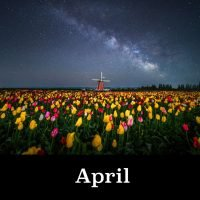 April image ORegon Night Skies 2021 Calendar