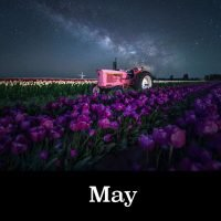 May Image Night Skies of Oregon Calendar