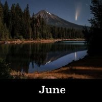 June Oregon Night Skies 2021 Calendar
