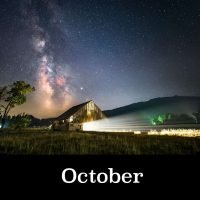 Night Skies of Oregon 2021 Calendar October Image