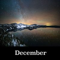December image for Oregon Night Skies 2021 Calendar