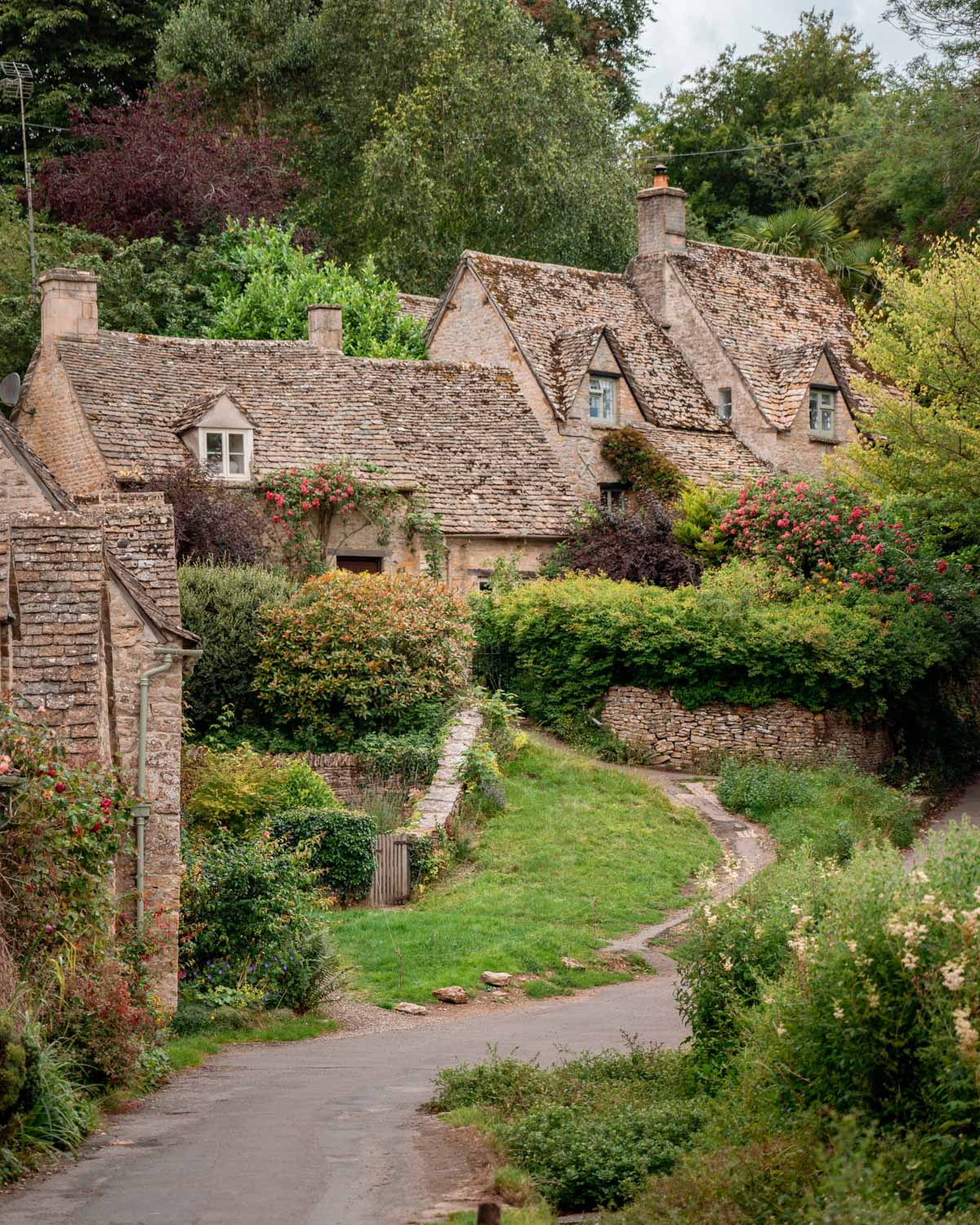Arlington Row, Bibury - one of the most photographed rows of cottages in the UK and prettiest English villages