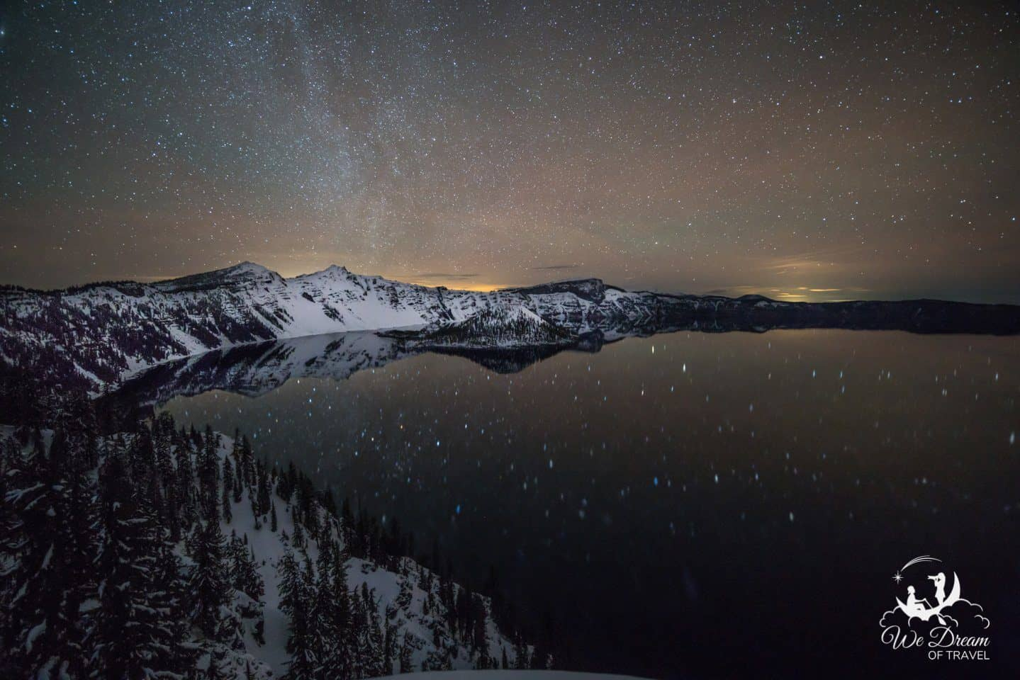 Night Photography from Crater Lake National Park in Oregon