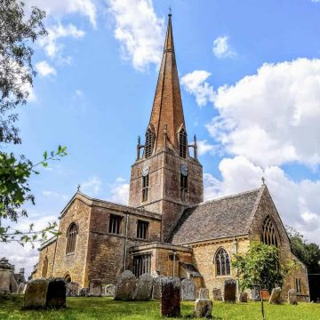 St Mary's Church in the English village of Bampton, Oxfordshire.