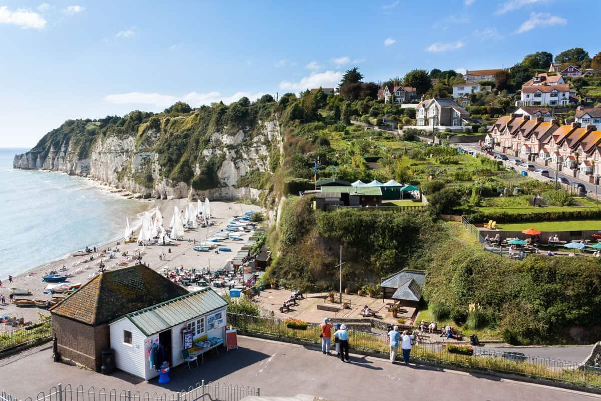 Charming coastal village of Beer in Devon.