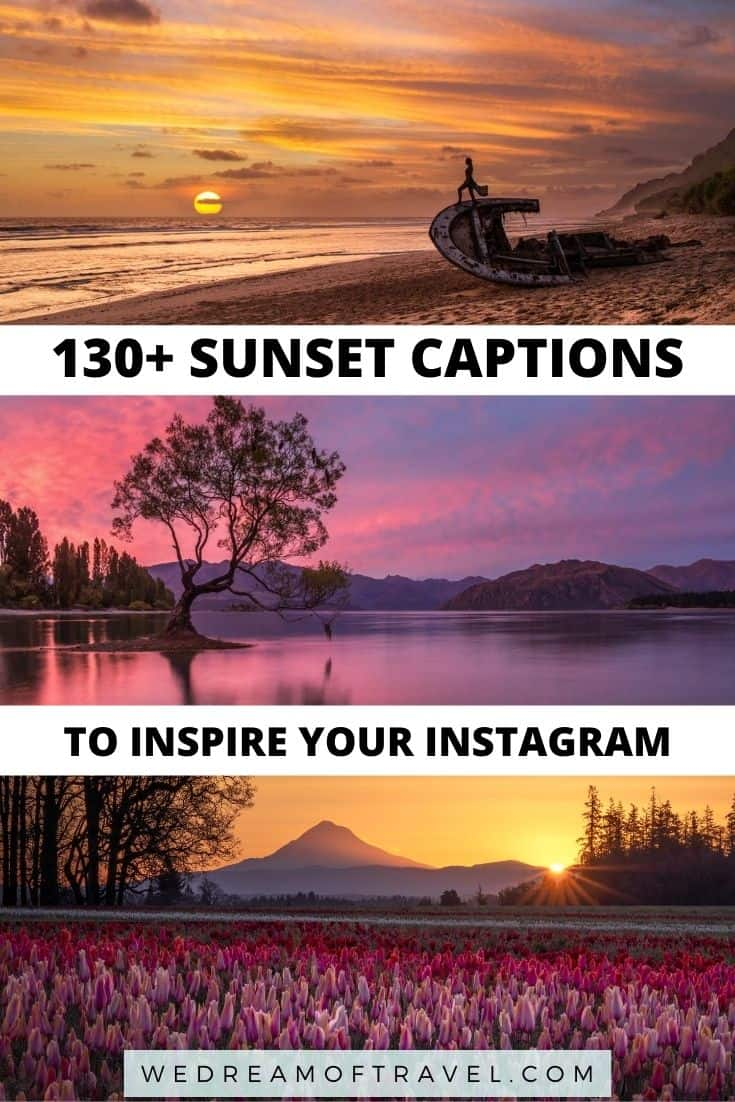 130+ best sunset captions and quotes.  From long, inspiration sunset quotes to funny, short, clever captions - this full list of sunset captions has everything you need for the perfect Instagram caption.  sunset captions for instagram | short sunset captions | sunset captions for instagram short | sunset captions for instagram cute | sunset captions for instagram beach | sunset captions for instagram words | sunset captions for instagram inspiration | sunset captions for instagram posts | sunset captions photography | sunset quotes instagram caption