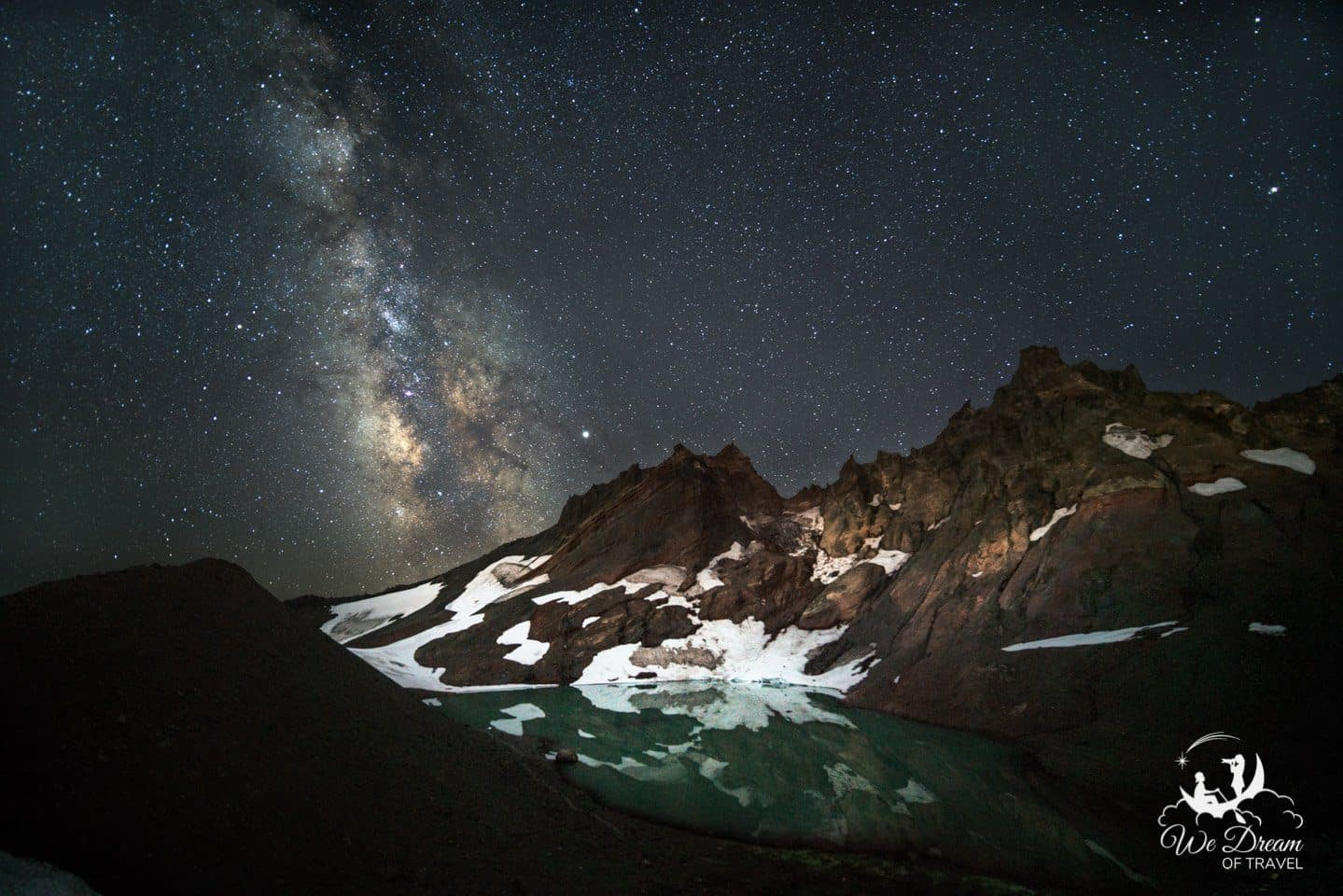 Broken Top Mountain is an amazing dark sky place to visit in Oregon for Milky Way Photography.