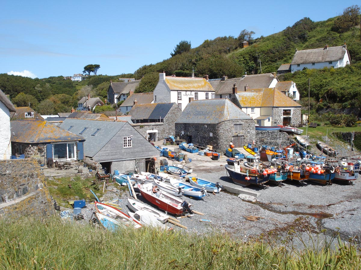 The tiny fishing village of Cadgwith Cove in Cornwall is one of the prettiest English villages.