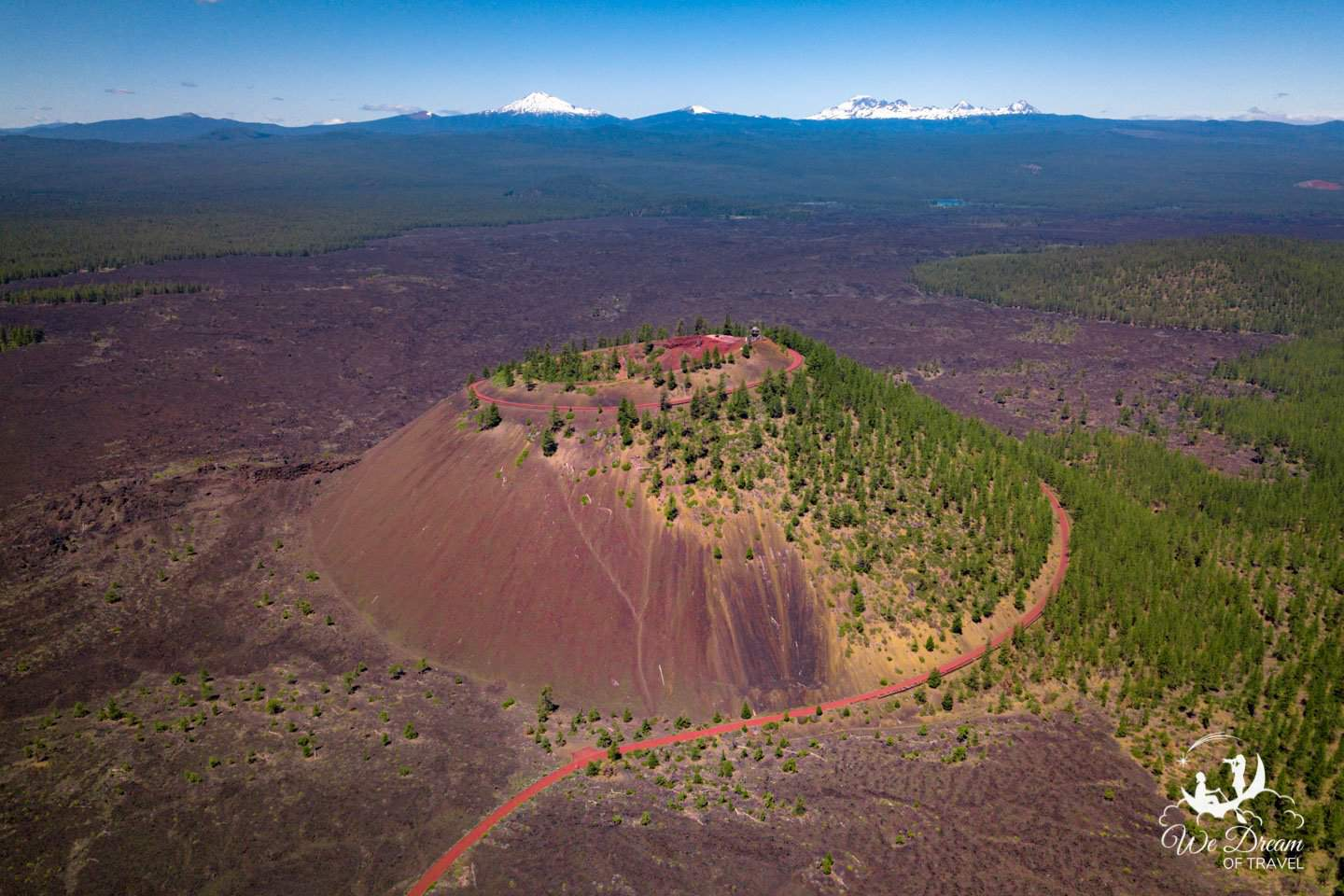 Drone photography of Cinder Cone in the High Desert of Central Oregon
