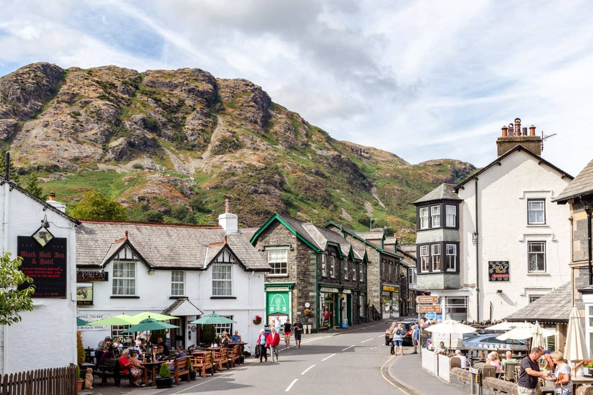 One of the prettiest English villages in the Lake District:  Coniston.