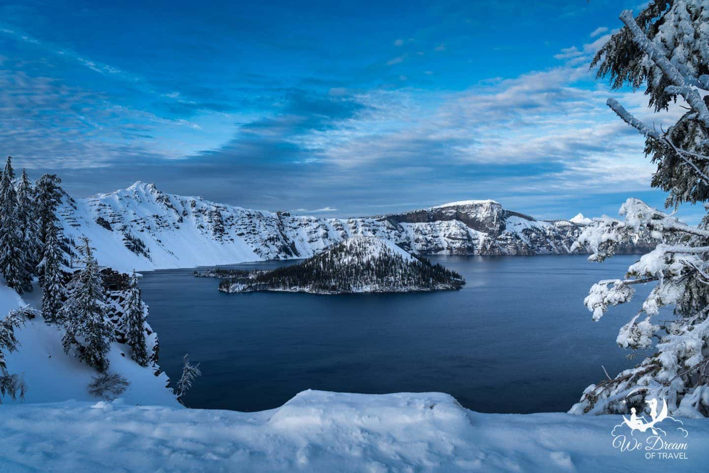 Crater Lake National Park is the most touristed place to visit in Oregon.