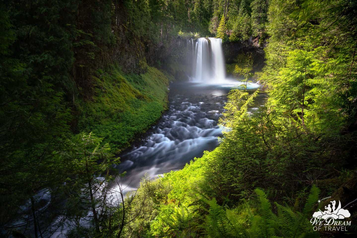 Koosah Falls is among the most quintessentially picturesque waterfalls in Oregon.
