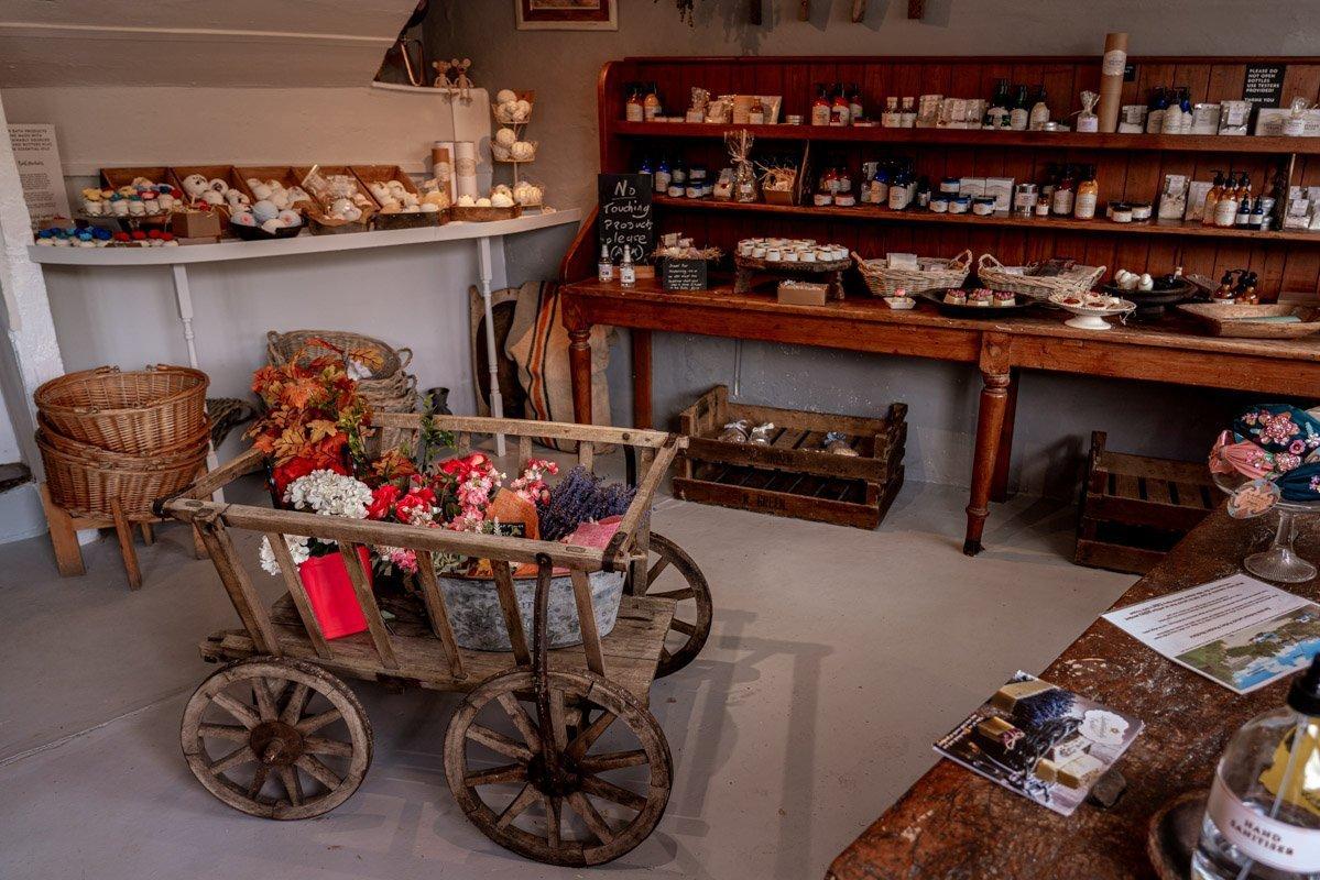 Interior of Quintessentially English shop in Lackock Village