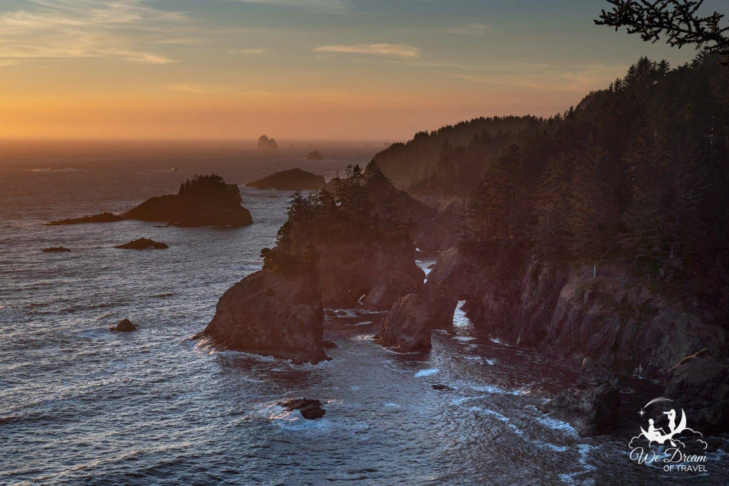 Moody sunset photography at Samuel H Boardman on the Southern Oregon coast.