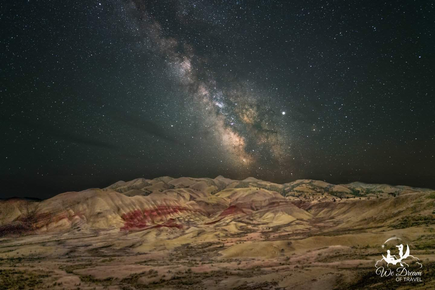 Milky Way photography from the John Day Painted Hills of Oregon